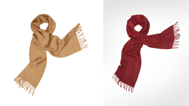 Enrico Coveri Cashmere Fringed Long Scarf