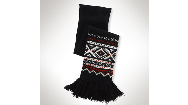 Ralph Lauren Wool Northwest Fair Isle Scarf