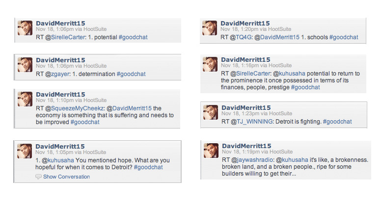 Goodness Determined Twitter Chat